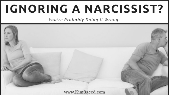 Ignoring a narcissist